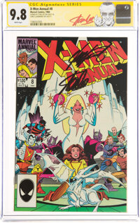 X-Men Annual #8 Signature Series: Stan Lee and Chris Claremont (Marvel, 1984) CGC NM/MT 9.8 White pages