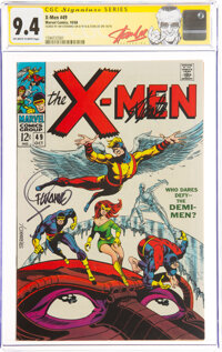 X-Men #49 Signature Series: Jim Steranko and Stan Lee (Marvel, 1968) CGC NM 9.4 Off-white to white pages