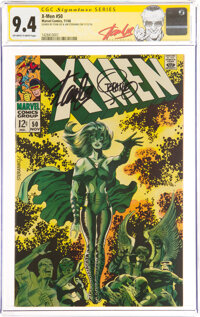 X-Men #50 Signature Series: Stan Lee and Jim Steranko (Marvel, 1968) CGC NM 9.4 Off-white to white pages