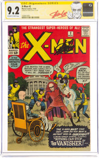 X-Men #2 Signature Series: Stan Lee (Marvel, 1963) CGC NM- 9.2 Off-white to white pages