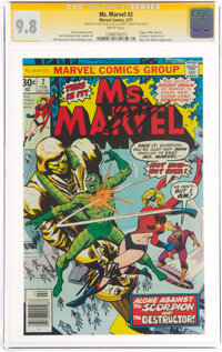 Ms. Marvel #2 Signature Series: Stan Lee and Gerry Conway (Marvel, 1977) CGC NM/MT 9.8 White pages