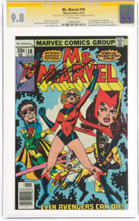 Ms. Marvel #18 Signature Series: Stan Lee and Chris Claremont (Marvel, 1978) CGC NM/MT 9.8 White pages