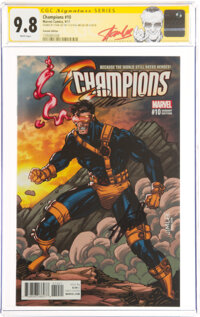 Champions #10 Variant Edition - Signature Series: Stan Lee and Jim Lee (Marvel, 2017) CGC NM/MT 9.8 White pages