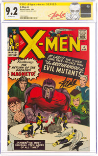 X-Men #4 Signature Series: Stan Lee (Marvel, 1964) CGC NM- 9.2 Off-white pages