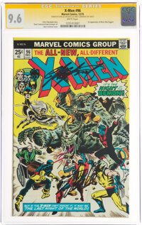 X-Men #96 Signature Series: Stan Lee and Chris Claremont (Marvel, 1975) CGC NM+ 9.6 White pages