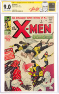 Silver Age (1956-1969):Superhero, X-Men #1 Signature Series: Stan Lee (Marvel, 1963) CGC VF/NM 9.0 Off-white to white pages....