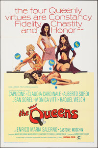 """The Queens (Columbia, 1966). Folded, Very Fine-. International One Sheet (27"""" X 41"""") Ron Lesser Artwork. Sexpl..."""