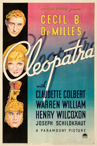 """Cleopatra (Paramount, 1934). Fine/Very Fine on Linen. One Sheet (27"""" X 41"""") Style B"""