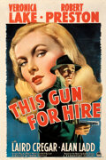 """Movie Posters:Film Noir, This Gun for Hire (Paramount, 1942). Very Fine- on Linen. One Sheet (27"""" X 41"""").. ..."""