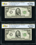 Small Size:Federal Reserve Notes, Fr. 2104-C/2105-C $50 1934B/1934C Federal Reserve Notes. C...