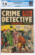 Crime Detective Comics #1 Double Cover (Hillman Publications, 1948) CGC FN/VF 7.0 Off-white pages