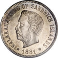 Coins of Hawaii, 1881 5C Hawaii Five Cents MS65 PCGS....