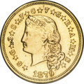 Proof Four Dollar Gold Pieces, 1879 $4 Flowing Hair, Judd-1635, Pollock-1832, R.3--Repaired, Whizzed--NCS. Impaired Proof....