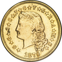 1879 $4 Flowing Hair, Judd-1635, Pollock-1832, R.3--Repaired, Whizzed--NCS. Impaired Proof....(PCGS# 8057)