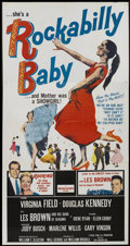"Movie Posters:Rock and Roll, Rockabilly Baby (20th Century Fox, 1957). Three Sheet (41"" X 81"").Rock and Roll...."