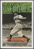"Movie Posters:Sports, The Life and Times of Hank Greenberg (Cowboy Booking International, 1998). One Sheet (27"" X 39""). Sports...."