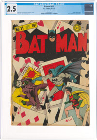 Batman #11 (DC, 1942) CGC GD+ 2.5 Off-white to white pages