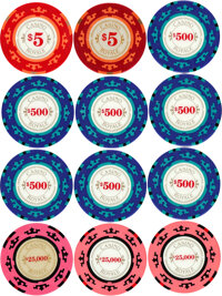 """Casino Royale (MGM, 2006). Very Fine+. Screen-Used Clay Poker Chips (14) (Diameter: 1.5"""") & Prototype Casino Pl..."""