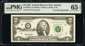 Mary Ellen Withrow Courtesy Autographed and Radar Serial Number 47177174 Fr. 1936-F $2 1995 Federal Reserve Note. PMG Ge...