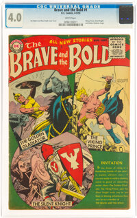 The Brave and the Bold #1 (DC, 1955) CGC VG 4.0 White pages