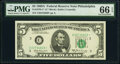 Small Size:Federal Reserve Notes, Fr. 1970-C* $5 1969A Federal Reserve Star Note. PMG Gem Un...