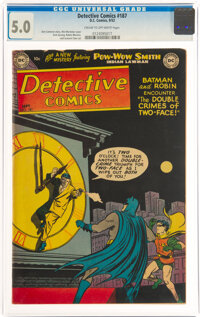 Detective Comics #187 (DC, 1952) CGC VG/FN 5.0 Cream to off-white pages