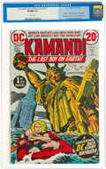 Bronze Age (1970-1979):Science Fiction, Kamandi, the Last Boy on Earth #1 (DC, 1972) CGC VF/NM 9.0 White pages....