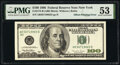 Error Notes:Offsets, Full Face to Back Offset Error Fr. 2175-B $100 1996 Federal Reserve Note. PMG About Uncirculated 53.. ...