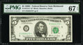 Small Size:Federal Reserve Notes, Fr. 1972-E* $5 1969C Federal Reserve Star Note. PMG Superb...