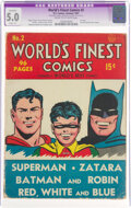 Golden Age (1938-1955):Superhero, World's Finest Comics #2 (DC, 1941) CGC Apparent VG/FN 5.0 Slight (A) Cream to off-white pages....