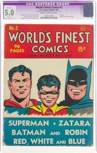 World's Finest Comics #2 (DC, 1941) CGC Apparent VG/FN 5.0 Slight (A) Cream to off-white pages