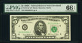 Small Size:Federal Reserve Notes, Fr. 1972-D* $5 1969C Federal Reserve Star Note. PMG Gem Un...