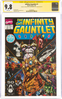 The Infinity Gauntlet #1 Signature Series: Jim Starlin and Others (Marvel, 1991) CGC NM/MT 9.8 White pages
