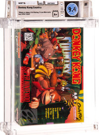 Donkey Kong Country - Wata 9.4 A+ Sealed [Made in Japan, First Production], SNES Nintendo 1994 USA