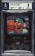 Basketball Cards:Singles (1980-Now), 2013 Upper Deck All-Time Greats LeBron James (Team for the Ages Autograph) #TA2-2 BGS Mint 9, Auto 10 - #'d 1/12!...