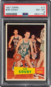 1957 Topps Bob Cousy Rookie #17 PSA NM-MT 8