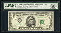 Small Size:Federal Reserve Notes, Fr. 1969-J* $5 1969 Federal Reserve Star Note. PMG Gem Unc...