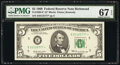 Small Size:Federal Reserve Notes, Fr. 1969-E* $5 1969 Federal Reserve Star Note. PMG Superb ...
