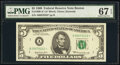 Small Size:Federal Reserve Notes, Fr. 1969-A* $5 1969 Federal Reserve Star Note. PMG Superb ...