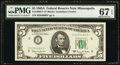 Small Size:Federal Reserve Notes, Fr. 1968-I* $5 1963A Federal Reserve Star Note. PMG Superb...
