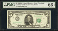 Small Size:Federal Reserve Notes, Fr. 1968-D* $5 1963A Federal Reserve Star Note. PMG Gem Un...