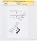 Memorabilia:Movie-Related, Stan Lee Venom Signed Script Pages Group of 5 (Columbia, 2018).... (Total: 5 Items)