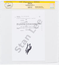 Stan Lee Venom Signed Script Pages Group of 5 (Columbia, 2018).... (Total: 5 Items)