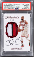 Basketball Cards:Singles (1980-Now), 2016 Panini Flawless Dwyane Wade (Signature Prime Material...