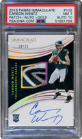 Football Cards:Singles (1970-Now), 2016 Panini Immaculate Carson Wentz (Rookie Patch Auto) #1...