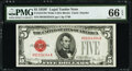 Small Size:Legal Tender Notes, Fr. 1531 $5 1928F Wide I Legal Tender Note. PMG Gem Uncirc...