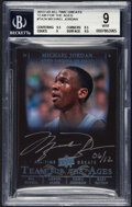 Basketball Cards:Singles (1980-Now), 2013 Upper Deck All-Time Greats Michael Jordan (Team for the Ages Autograph) #TA2-4 BGS Mint 9, Auto 10, #'d 6/12...