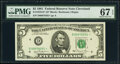 Small Size:Federal Reserve Notes, Fr. 1976-D* $5 1981 Federal Reserve Star Note. PMG Superb ...