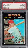 Baseball Cards:Singles (1970-Now), 1971 Topps Pete Rose #100 PSA NM-MT 8. Offered is ...