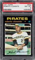 Baseball Cards:Singles (1970-Now), 1971 Topps Roberto Clemente #630 PSA NM-MT 8. Offe...